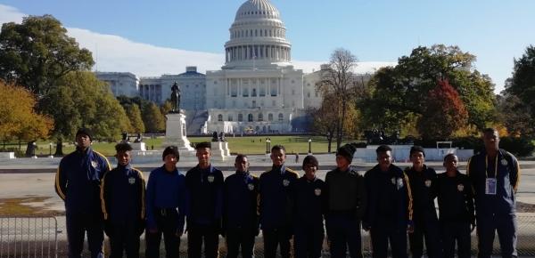 Jóvenes de las Casas Lúdicas de Tumaco y San Andrés Islas viajaron a Estados Unidos para participar en intercambio deportivo con apoyo de la Cancillería