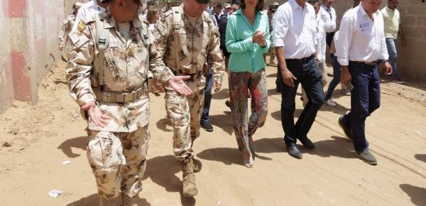 Ministra de Relaciones Exteriores hizo un recorrido por la zona limítrofe entre Colombia y Venezuela