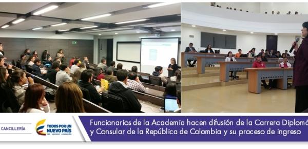 """Estudiantes en charla sobre la Academia Diplomática """"Augusto Ramírez Ocampo"""""""