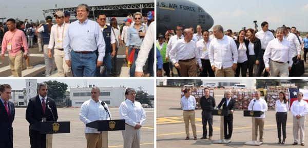 En imágenes: Canciller Carlos Holmes Trujillo participa en los eventos de ayuda humanitaria para Venezuela en Cúcuta