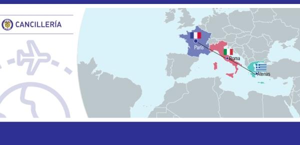Canciller Holguín adelanta gira de trabajo por algunas ciudades de Europa.