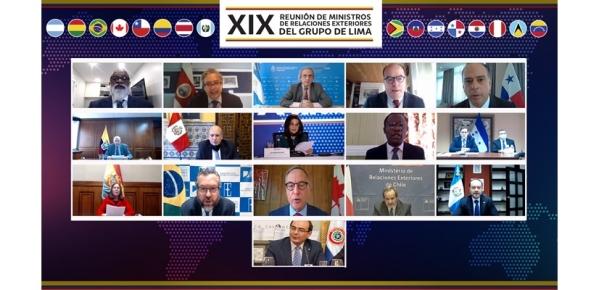 Cancilleres del Grupo de Lima se reunieron para analizar la situación en Venezuela