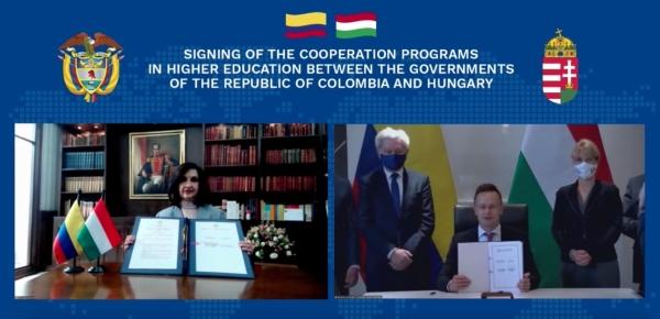 Canciller Claudia Blum suscribió con su homólogo húngaro un memorando de entendimiento sobre cooperación entre Academias Diplomáticas y dos programas de cooperación en materia educativa