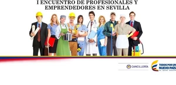 I Encuentro de profesionales y emprendedores en el Consualdo de Colombia en Sevillalla