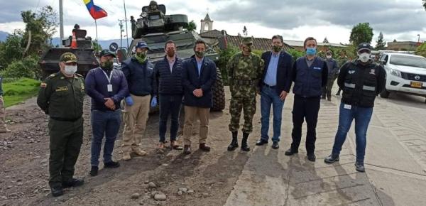 Director de Soberanía Territorial y Desarrollo Fronterizo de la Cancillería, Ricardo Montenegro, visitó Ipiales para verificar los controles que se ejercen en la frontera con Ecuador, en la contención del Covid-19