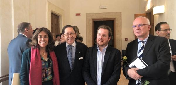 Embajadas ante la Santa Sede e Italia promovieron la conferencia 'Huellas en Italia y el Vaticano de la obra del Nobel colombiano Gabriel García Márquez', a cargo de Juan Esteban Constaín