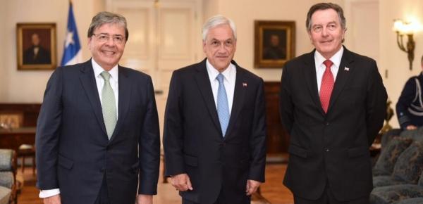 El Canciller Carlos Holmes Trujillo se reunió con el Presidente de Chile Sebastián Piñera