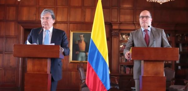 No descansaremos en la denuncia internacional del auspicio del dictador Maduro a grupos criminales: Canciller Holmes Trujillo