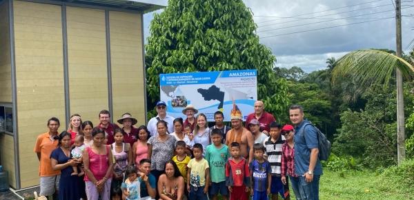 Cancillería lideró visita de seguimiento a Proyecto de Sistema de Abastecimiento de Agua Lluvia en comunidades indígenas del departamento del Amazonas