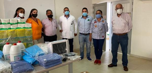 Dirección de Fronteras de la Cancillería entregó elementos de bioseguridad y equipos biomédicos al Hospital Departamental San Antonio de Mitú