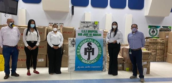 Dirección de Fronteras entregó equipos biomédicos y elementos de bioseguridad al Hospital San José de Maicao, en La Guajira