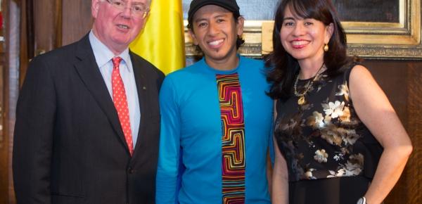 Colombia celebra la apertura de su Embajada en Irlanda con el concierto del arpista