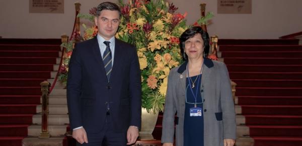 Viceministros de Relaciones Exteriores de Colombia y Georgia, Luz Stella Jara y Vakhtang Makharoblishvili, presidieron reunión de consultas políticas