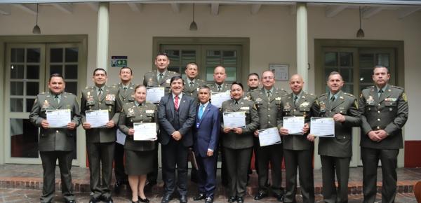 Academia Diplomática realizó la Clausura del Curso de Agregados de Policía que se realizó en el Ministerio de Relaciones Exteriores