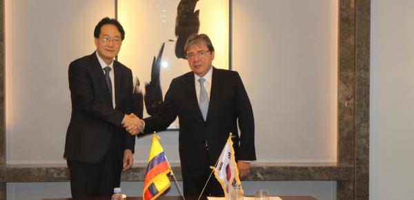 Canciller de Colombia visitó la Agencia de Cooperación Internacional de Corea con el fin de plantear proyectos en materia educativa y gestionar ayuda económica para la crisis migratoria proveniente de Venezuela