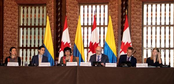 Instalación del Mecanismo Viceministerial de Consultas Políticas, Económicas y de Derechos Humanos Colombia-Canadá