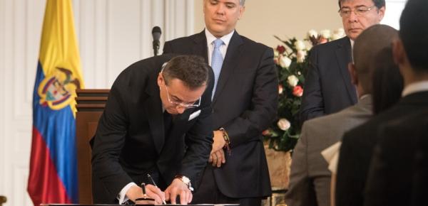 Presidente Iván Duque Márquez posesionó a Álvaro Sandoval como nuevo Embajador de Colombia en India