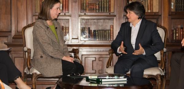 La Viceministra Adriana Mejía recibió a la nueva Representante residente del Programa de las Naciones Unidas para el Desarrollo (PNUD), Jessica Faieta