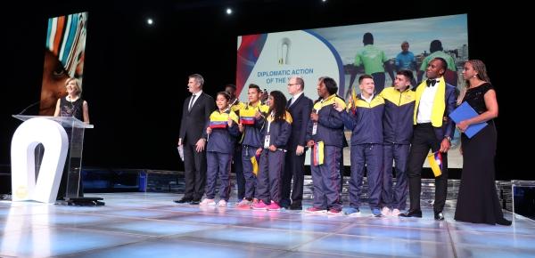 Viceministra Patti Londoño agradeció el premio entregado por Peace and Sport a Diplomacia Deportiva y Cultural, iniciativa creada por la Canciller María Ángela Holguín