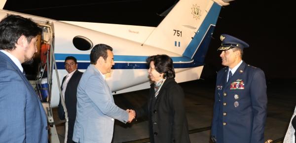 La Viceministra recibió al Presidente de Guatemala quien llegó a Bogotá para participar a la XI Reunión de Ministros de Relaciones Exteriores del Grupo de Lima