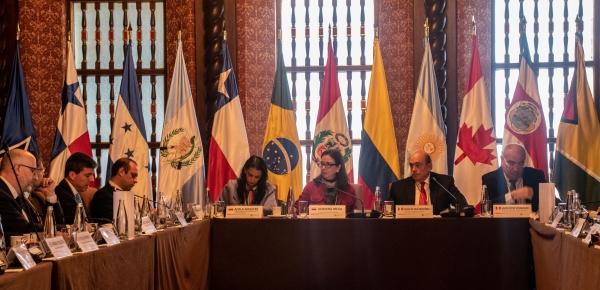 Viceministra de Asuntos Multilaterales presidió reunión de coordinadores nacionales del Grupo de Lima