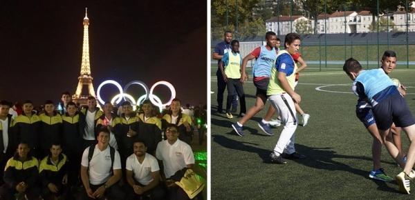 Intercambio deportivo en Francia, de la iniciativa Diplomacia Deportiva y cultural de Cancillería, reafirma los lazos