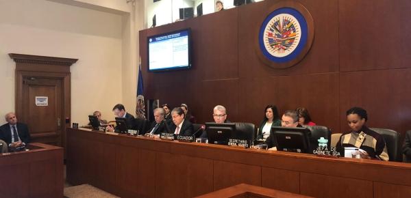 """""""Colombia se siente honrada al acoger en Medellín, el año próximo… la 49 Asamblea General de la Organización de Estados Americanos"""": Canciller Carlos Holmes Trujillo"""