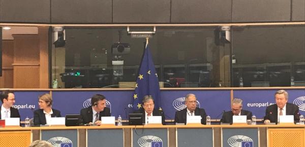Intervención del Canciller Trujillo ante el Parlamento Europeo