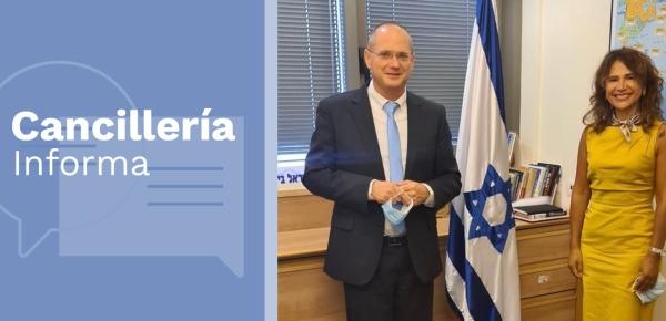Embajada en Israel reactiva el trabajo con la Asociación Parlamentaria de Amigos de Colombia e Israel