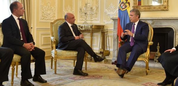 Presidente Iván Duque recibió cartas credenciales del Embajador de Italia en Colombia, Gherardo Amaduzzi