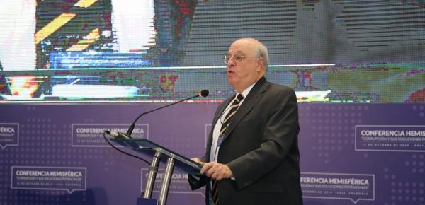 Mark Wolf, Presidente de Integrity Initiatives International, reiteró su apoyo a la creación de la Corte Internacional Anticorrupción