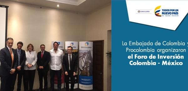 La Embajada de Colombia y Procolombia organizaron el Foro de Inversión