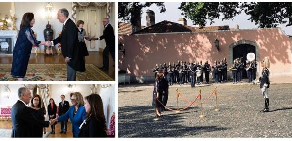 La Embajadora de Colombia, María Elvira Pombo, presentó cartas credenciales ante el Presidente de Portugal