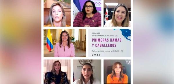 La Primera Dama, María Juliana Ruiz, hizo un llamado a sus homólogas a continuar trabajando articuladamente para cumplir con las metas trazadas en la Agenda