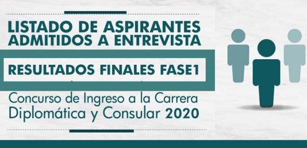 La Cancillería publica: Listado de aspirantes admitidos a entrevista y Resultados Finales Fase I