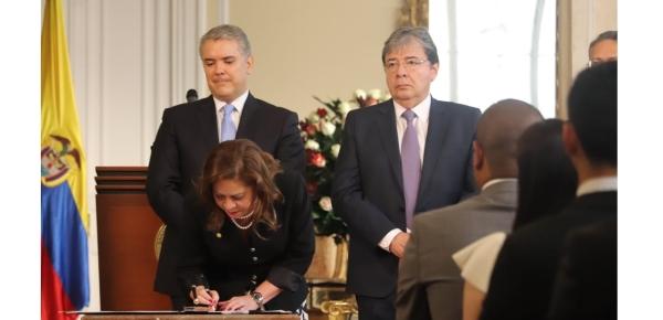 Ante el Presidente Duque, la caucana María del Pilar Gómez Valderrama tomó juramento como Embajadora de Colombia en Marruecos