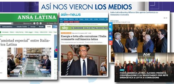 Así nos vieron los medios italianos durante la visita de la Canciller María Ángela Holguín a Italia en diciembre