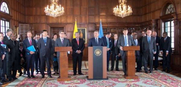 Durante visita del Consejo de Seguridad de la ONU, Presidente Iván Duque solicitó prorrogar por un año acompañamiento de la Misión de Verificación