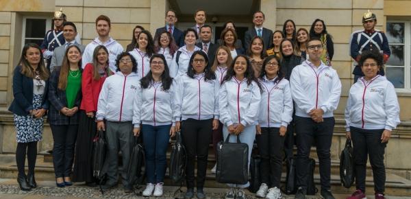 En el marco del Proyecto de Voluntariado de Alianza del Pacífico, Colombia dio la bienvenida a jóvenes de Chile, México y Perú