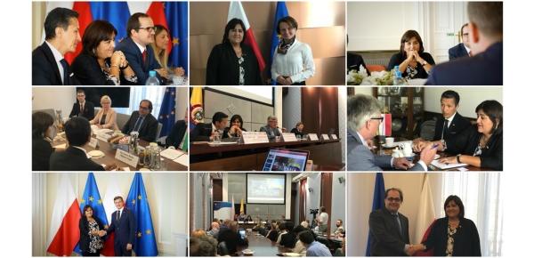 Embajador de Colombia acompaña a la Ministra de Comercio, Industria y Turismo en su gira por Polonia y Letonia