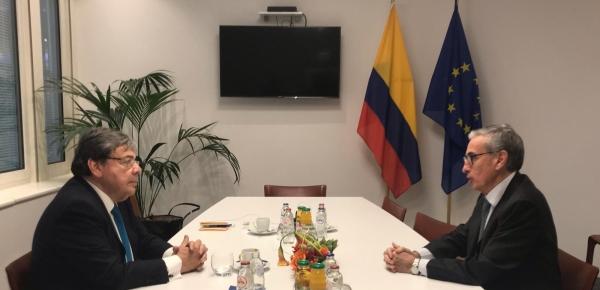 Ministro Carlos Holmes Trujillo sostuvo un encuentro con el parlamentario europeo, Ramón Jáuregui Atondo