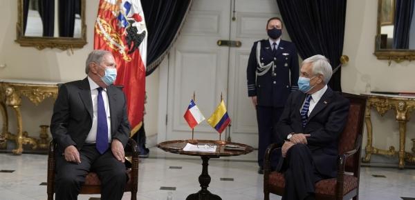 Embajador Guillermo Botero Nieto presentó cartas credenciales al Presidente de Chile, Sebastián Piñera