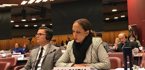 En debate general del Consejo de la OIM, la Representante de Colombia ante la ONU en Ginebra destacó acciones del Gobierno Nacional para afrontar migración venezolana