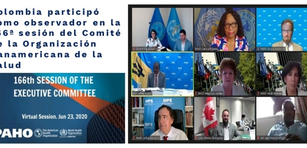 Colombia participó como observador en la 166ª sesión del Comité Ejecutivo de la OPS