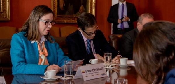 Viceministra de Asuntos Multilaterales, Adriana Mejía, presidió la segunda edición de los Diálogos Colombia-OTAN