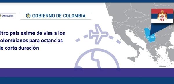 Otro país exime de visa a los colombianos para estancias de duración corta