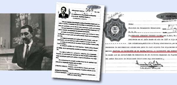 Los archivos de la Cancillería reposa la nacionalización de Fernando González Pacheco, reconocido presentador fallecido hace cinco años