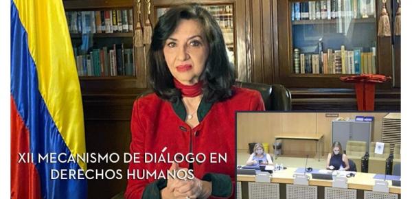 Canciller Claudia Blum instaló el XII Diálogo entre Colombia y la Unión Europea sobre Derechos Humanos