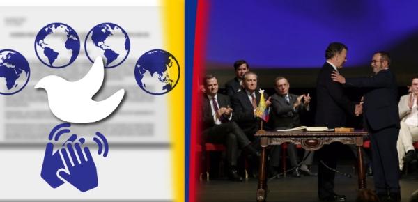 El mundo acompaña a Colombia en construcción de la paz