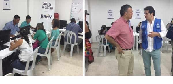 Gerente de Frontera en Venezuela y Cancillería visitaron puestos de Registro Administrativo de Migrantes Venezolanos en Colombia (RAMV)